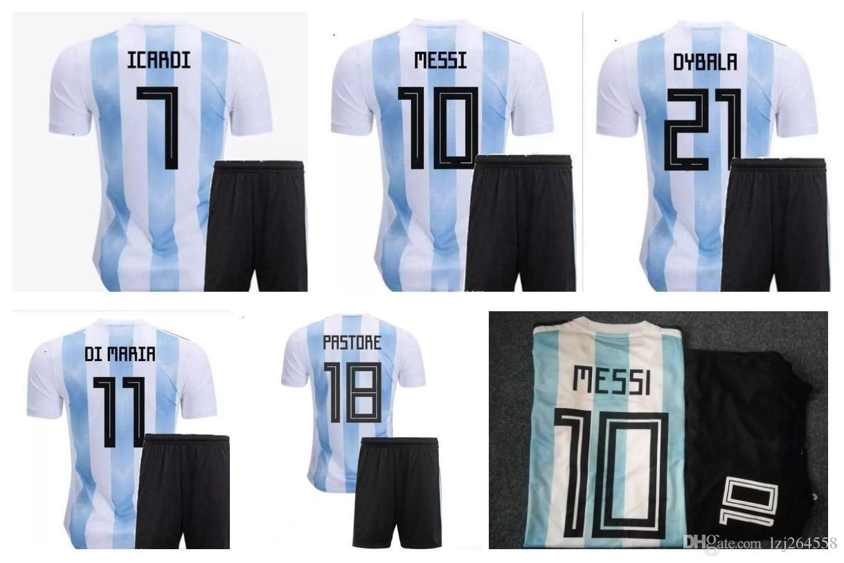 c2a59593e54 2019 Discount Argentina 2018 World Cup Soccer Unifroms
