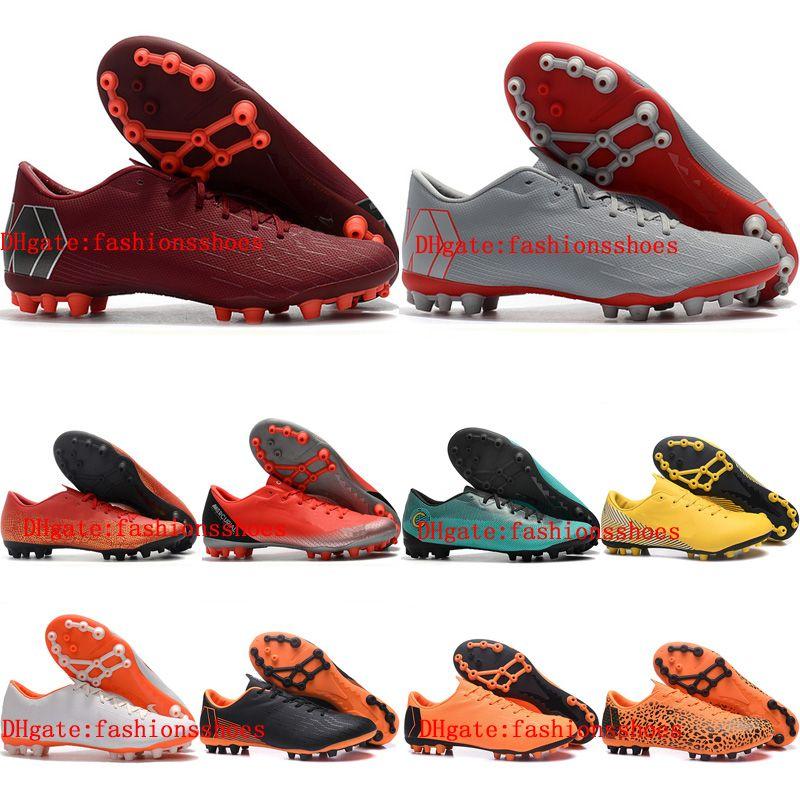 d6d8a1d77 2019 Mens Soccer Shoes Mercurial Superfly Vapor 12 Academy CR7 AG R Outdoor Soccer  Cleats Chaussures De Football Boots Size 39 46 Cheap Booties Football ...