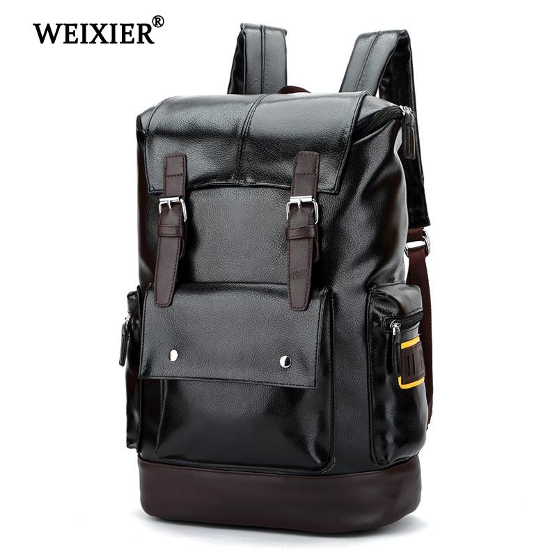 5a451f9312d0 WEIXIER 2019 New Preppy Style Men Backpack High Capacity Backpack ...