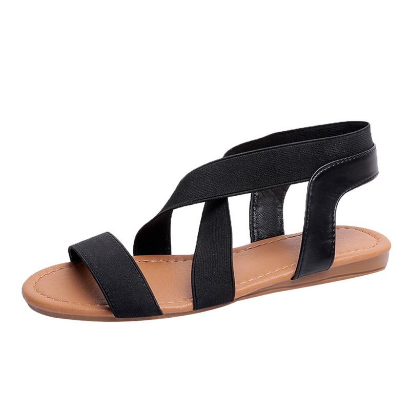 6bf6e254d9a1 LAAMEI Women Sandals Fashion Gladiator Sandals For Ladies Summer Shoes Female  Flat Rome Style Cross Tied Shoes Women Girls Sandals White Sandals From ...