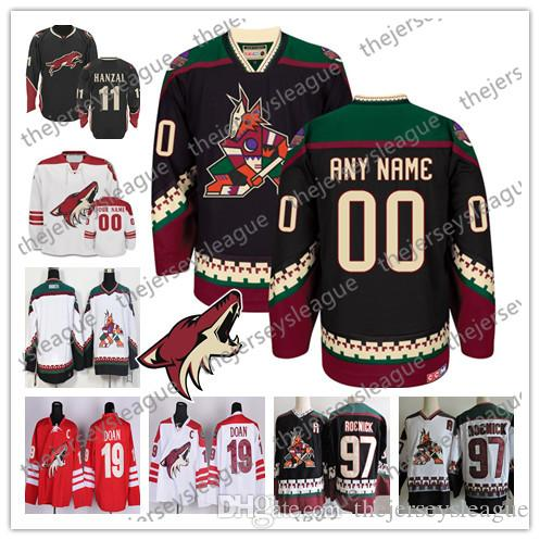 huge selection of ef925 0bddb Custom Arizona Coyotes OLD BRAND Mens Womens Youth Third Phoenix Brick Red  Black White Any Name Any Number Stitched Ice Hockey Jerseys S-4XL