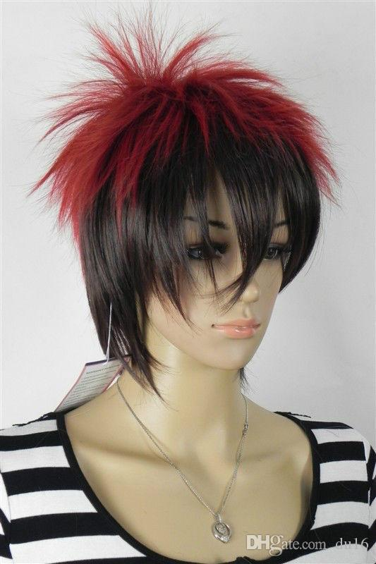 Wholesale price Hot Sell TSC^^^^ new healthy black red mixed short wig Women ladies Cosplay peruca hair wigs