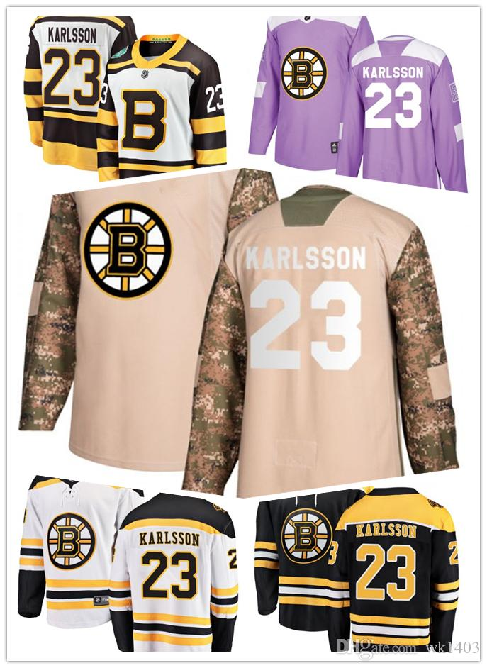 Boston Bruins Jerseys  23 Jakob Forsbacka Karlsson Jersey Hockey Men Women  White Black Drift Authentic Winter Classic Stiched CCM Jersey UK 2019 From  Wk1403 ... 57661ddc6