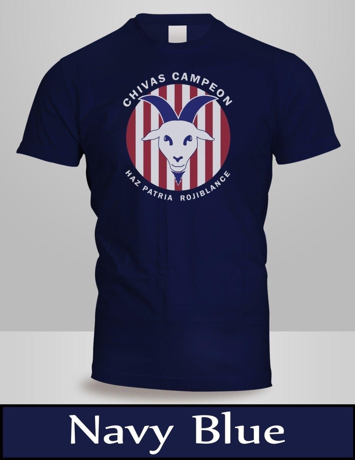 1cfe0b9be Compre Chivas Rayadas De Guadalajara Campeon Clausura VS UANL Camiseta  Hombre Navy Camiseta 2 Cool Casual Pride Camiseta Hombre A  13.91 Del  Cls6688521 ...