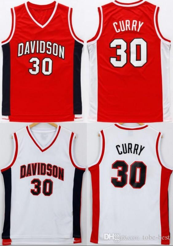 separation shoes ccd00 b19df NCAA Davidson Wildcats Basketball Jersey Red Stitched Stephen 30 Curry  College Jersey Men Color Team Embroidery For Sport Fans Free Shipping