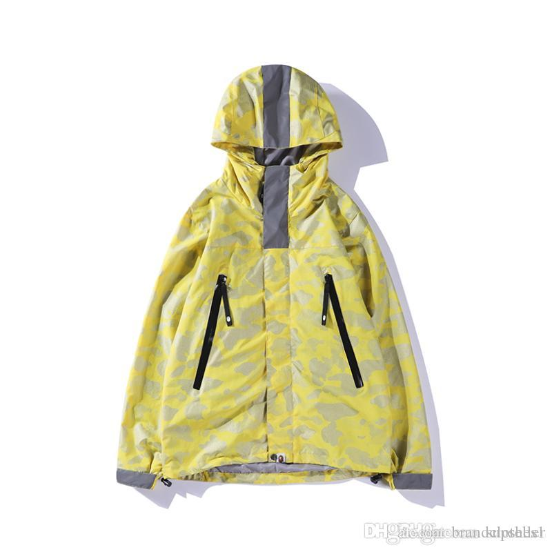 3d25c1946d7cb 2018 New Arrival Camo Windbreaker For Mens And Womens Black Yellow ...