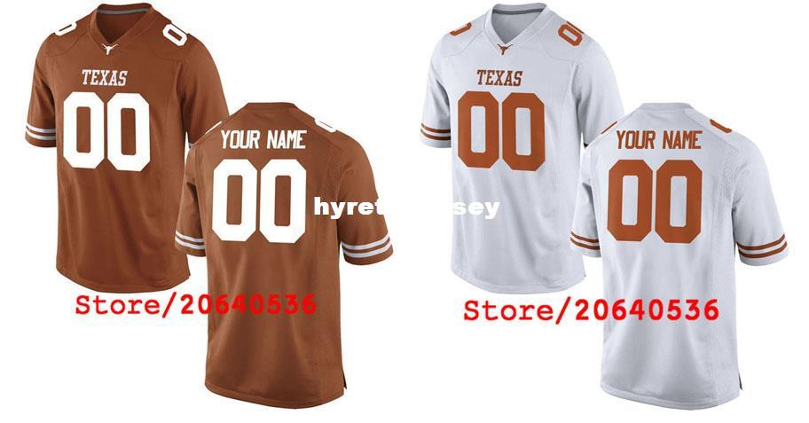 sports shoes 42cdd a9610 mens texas longhorns customized white jersey