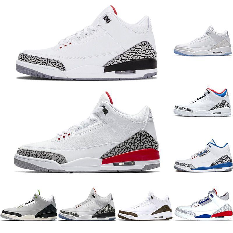 nouveau concept 652b4 df822 Nike Air Jordan 3 Retro 2019 Hommes 3 3s Chaussures de basket-ball Nouveau  ciment noir Katrina Tinker JTH NRG Haut III Designer Trainer Sport Sneakers  ...