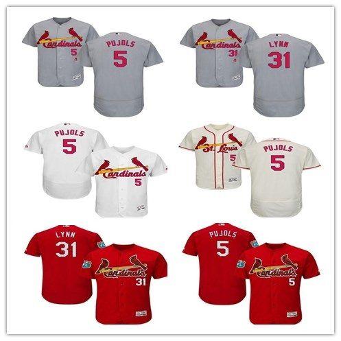 1f2ed88f0 ... 2018 custom mens majestic st. louis cardinals 5 albert pujols 31 lance  lynn authentic royal