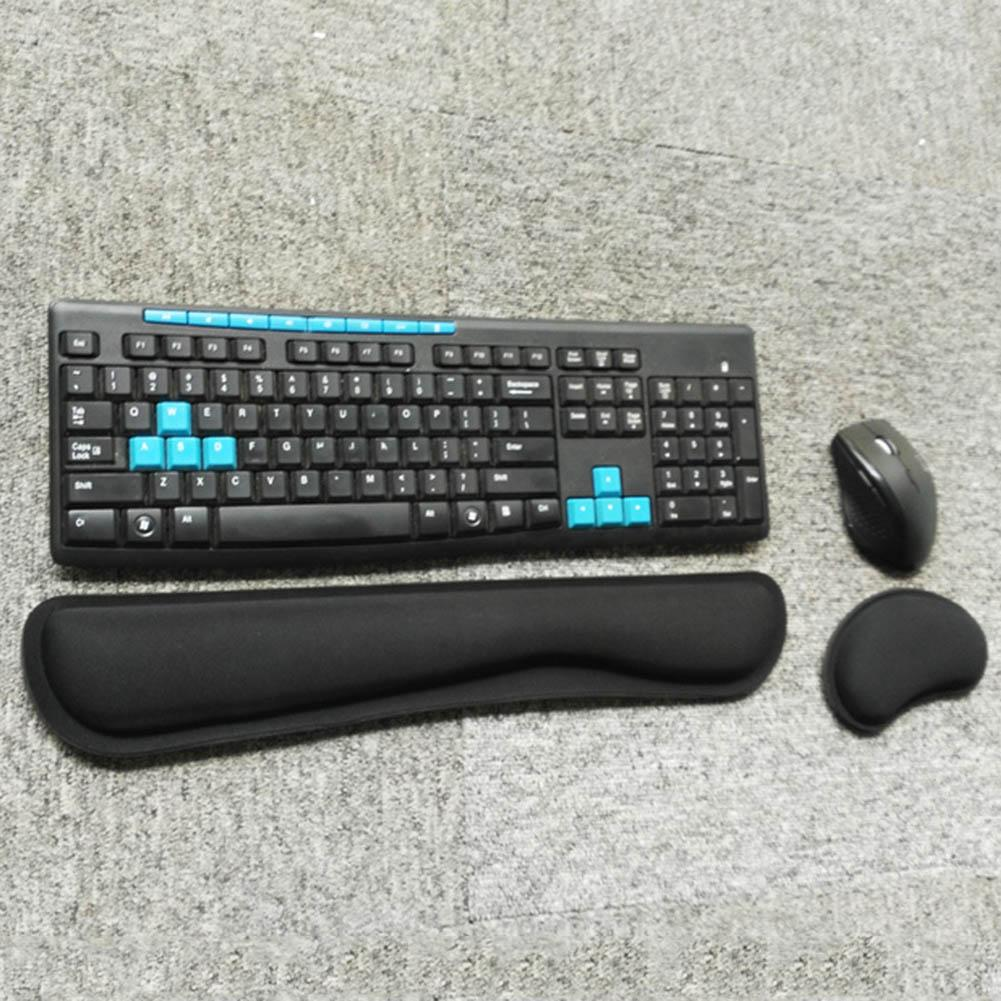 Keyboard Wrist Rest Pad Mouse Gel Rest Ergonomic Cushion With Memory Foam For Computer Laptop Pc Nd998