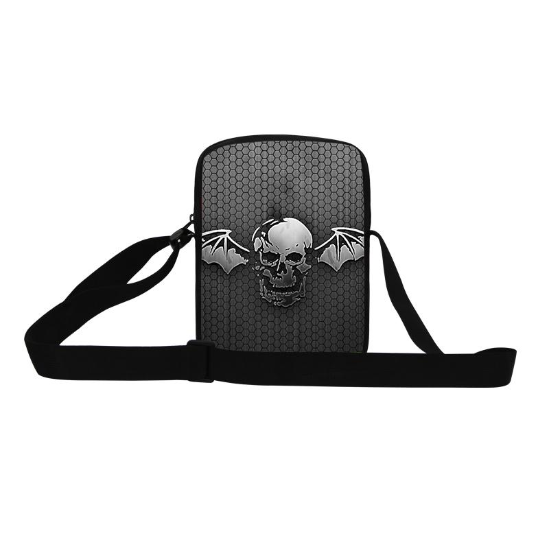 Dispalang Mini Small Messenger Bag 3D Bat Skull Print Cross Body Bags For Boys Borsa Casual Small Men's Travel Shoulder Bags