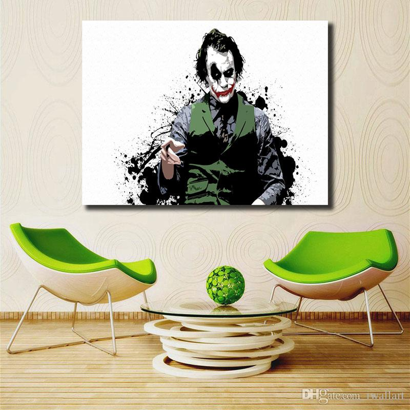 Batman Joker Wallpapers HD Wall Art Canvas Poster And Print Canvas Painting Decorative Picture For Modern Living Room Home Decor