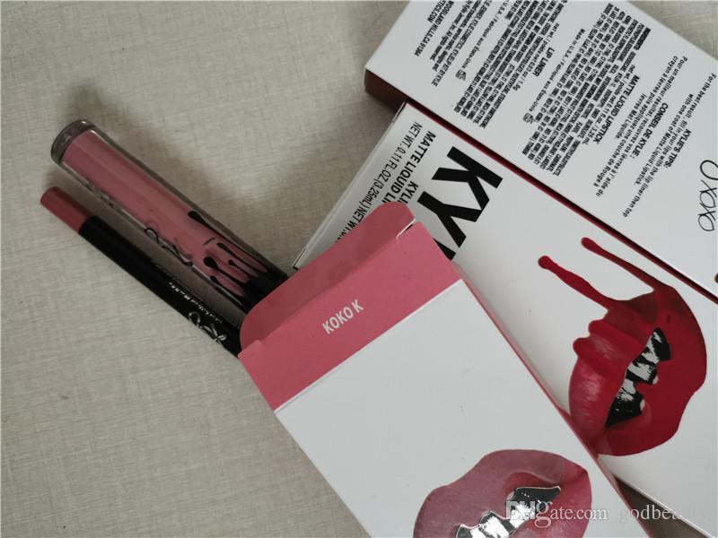 KYLIE JENNER lipstick lipgloss lipliner Lipkit Velvetine Liquid Matte kits Velvet Makeup liner pencil in stock keyshadow beauty