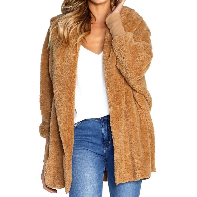 c85d16de1d7b Oeak Sweater Mujeres Invierno 2018 Moda Sólidos Suéteres Abrigo de Chaqueta  Mujer Otoño Cálido Cómodo Con Capucha Suéter Cardigan