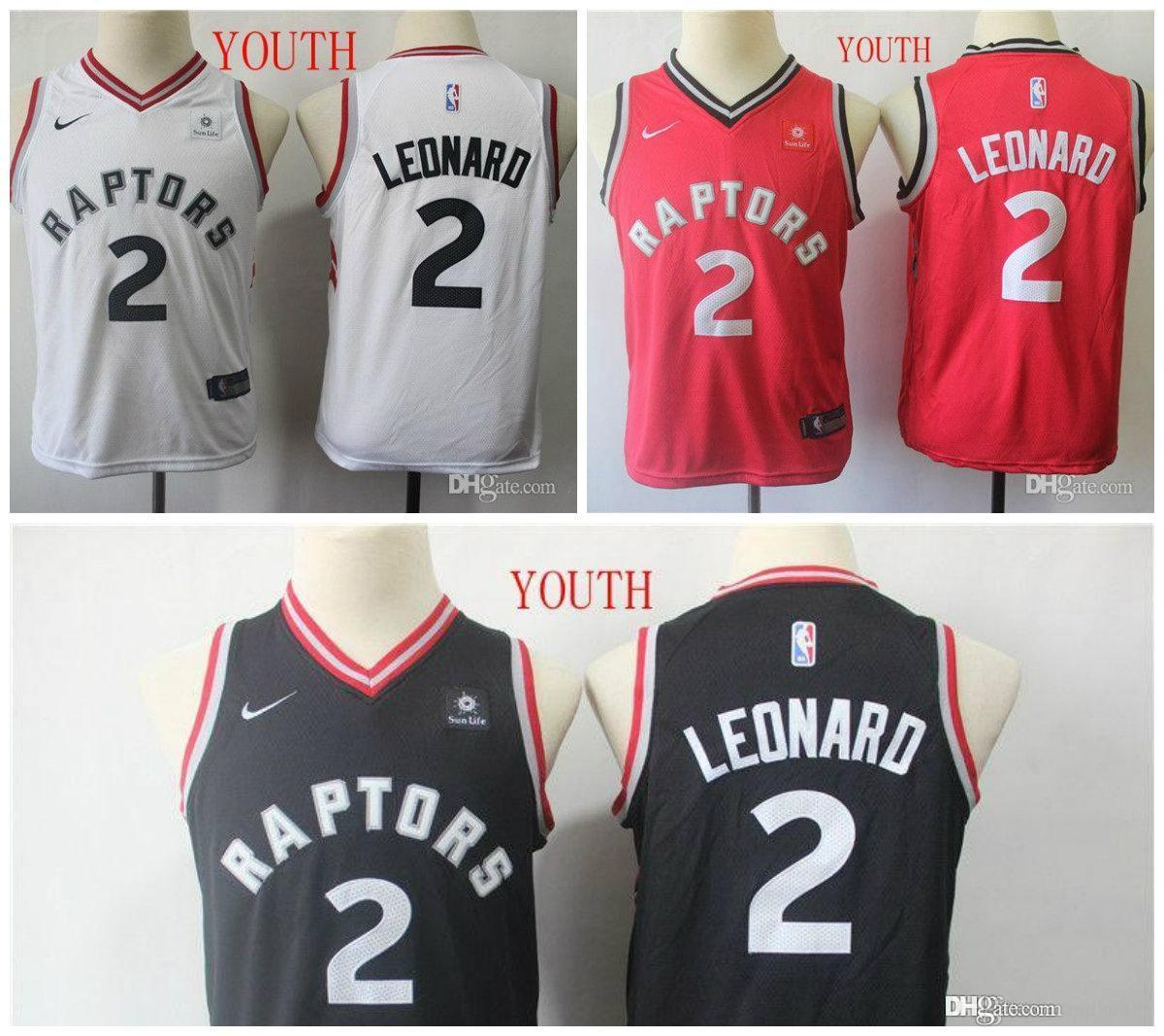 huge discount d67f8 5c98c TOP High QualityYouth Toronto Kawhi Raptors 2 Leonard Fanatics Branded Red  Fast Break Replica Jersey - Icon Edition Retro Embroidery jersey,
