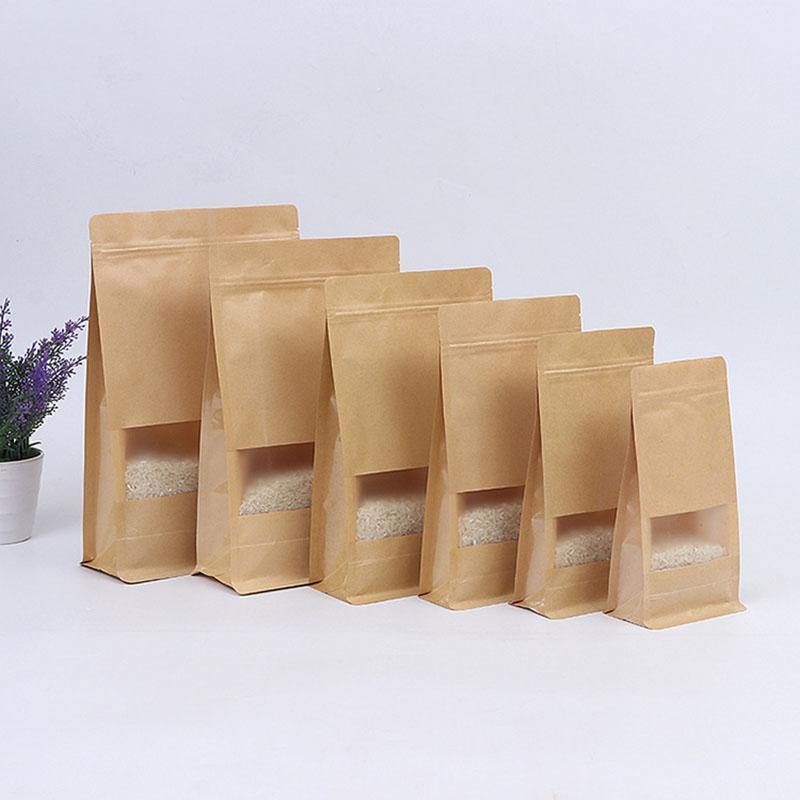 Saco de Papel Kraft Porcas Zip Bloqueável Self-styled Embalagem de Papel Kraft Doces de Casamento Embalagem de Alimentos Cookie Embalagem Bolsa Sealable