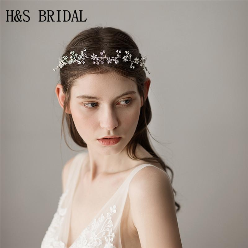 2019 H Amp S BRIDAL Silver Headband Hair Vine Snowflake Jewelry Handmade  Bridal Headpieces Wedding Hair Accessories From Dushibracelet fcb8a7ce99b
