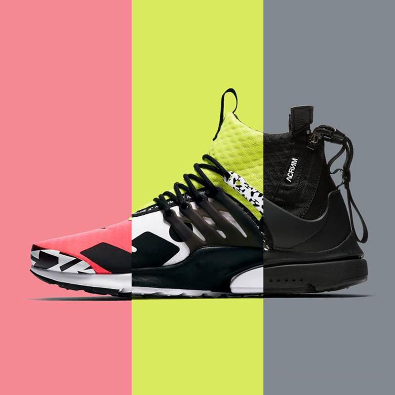 sale retailer 9b920 f9fb9 2019 2019 Cool Grey Acronym X Air Presto Mid Running Shoes Men Trainer Women  Designer Sports Sneakers Dynamic Yellow Racer Pink Multi Color 36 45 From  ...