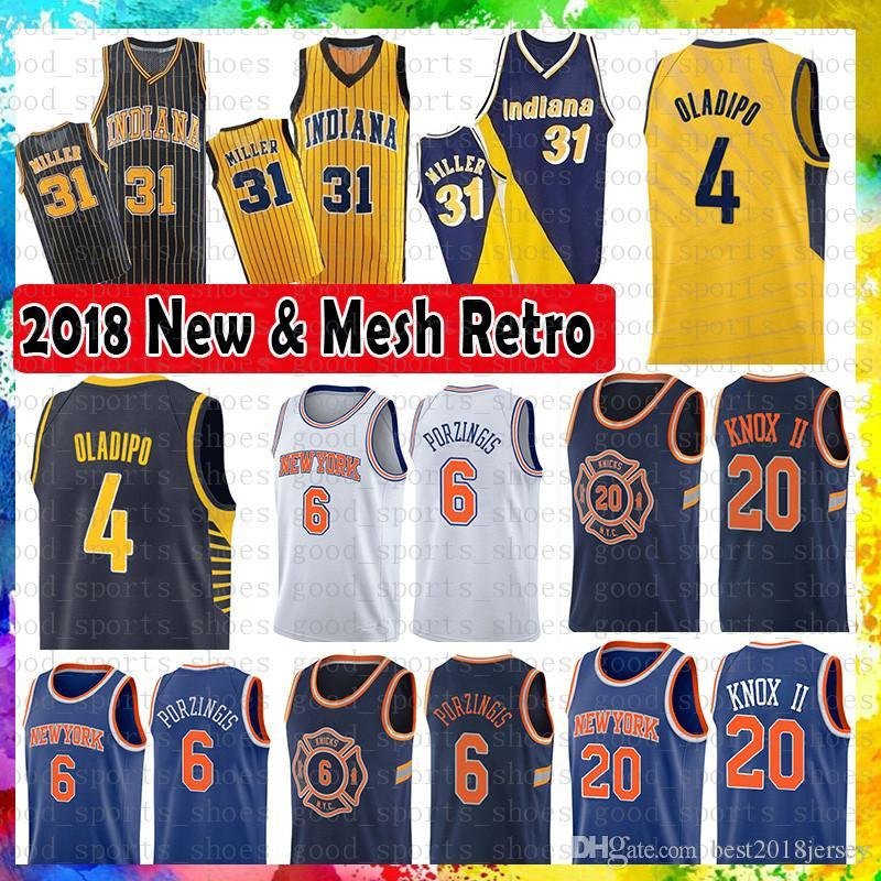 Indiana Pacers 4 Victor Oladipo 31 Reggie Miller Mesh Retro Jersey 6 ... 5294a2bfd