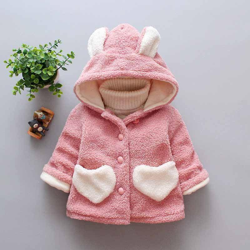 3ad2b56a2 BibiCola Winter Girls Plus Velvet Jacket Hoodies Children Winter ...