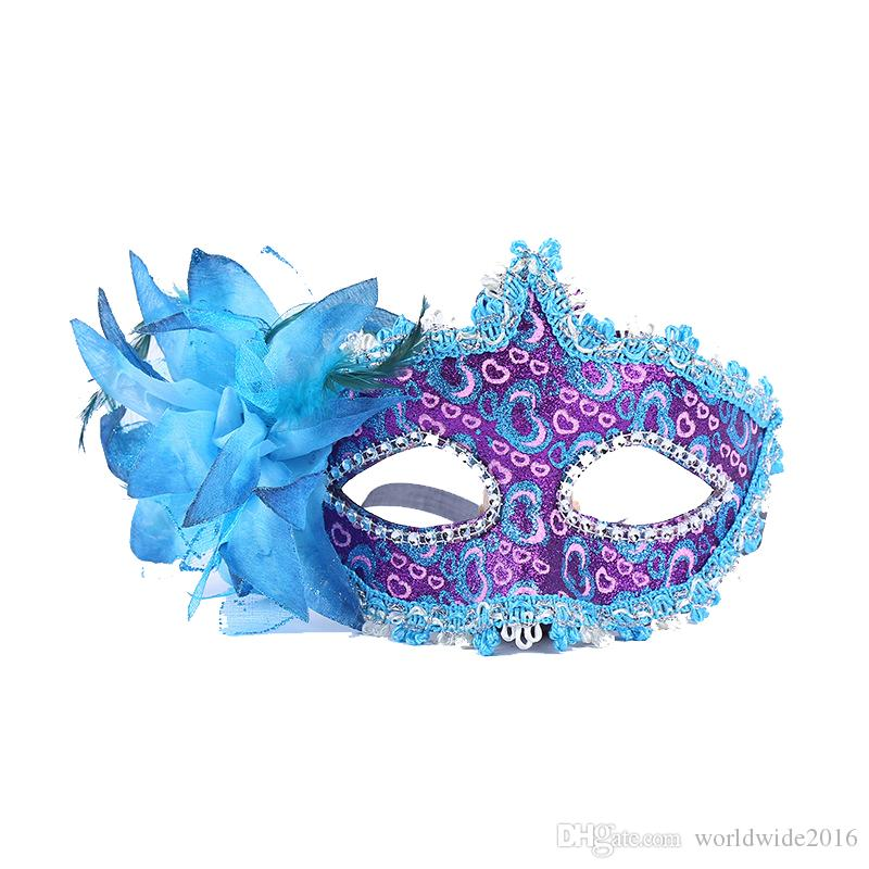 2019 Fashion Hal-Face Halloween Mask Sexy Masquerade Masks Dance Party Bar Venice Princess Mask High-grade Show Party Mask Supplies Leather