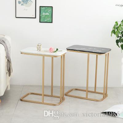 New furniture The Nordic marble corner sofa tea table mobile ark bedside  table Creative Coffee Table Living room Side tables