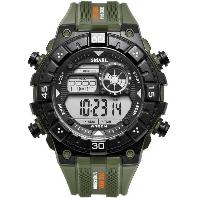 21101d029f3f Compre SMAEL Relojes Para Hombres Relojes Digitales Para Hombres Deporte  Moda Ejército Verde Led Reloj Electrónico Digital Erkek Kol Saati A  34.33  Del ...