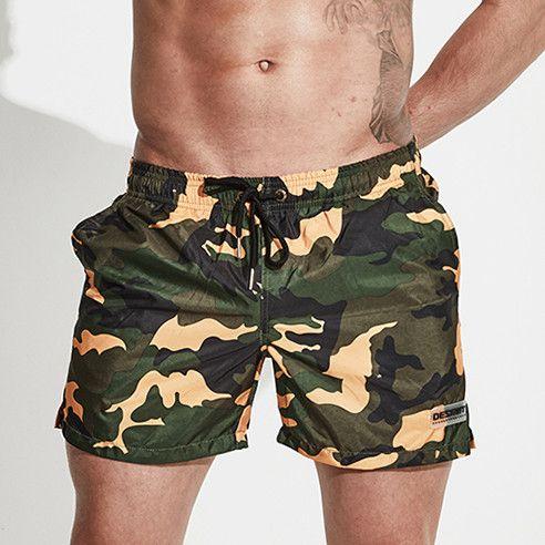 b09bb76ce Compre Pantalones Cortos De Tabla Desmiit Hombres Bermudas Surf Pantalones  Cortos De Natación Camuflaje Militar De Secado Rápido Hombre Bañadores  Traje De ...