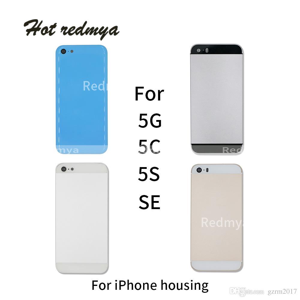 c6281dd6e Full Housing Back Battery Door Cover For IPhone 5 5G 5C 5S SE Metal ...