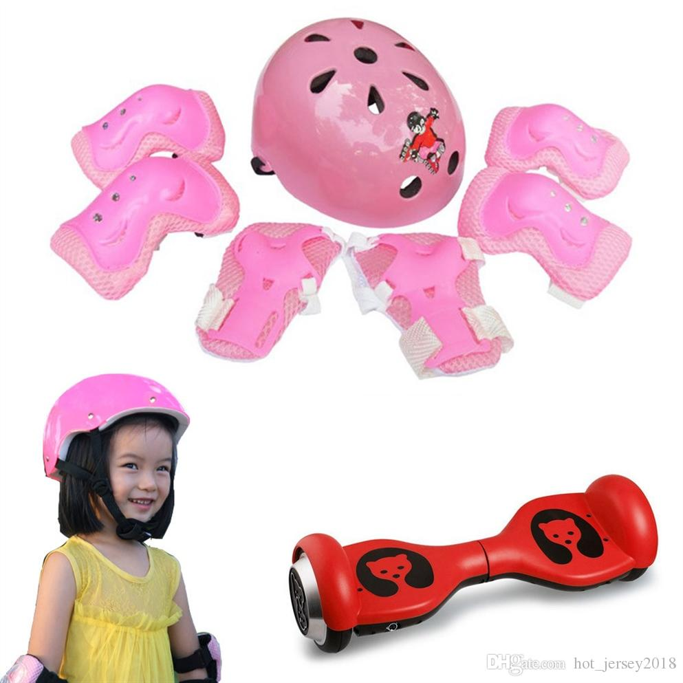 7Pcs/set Kid Child Self Balancing Bike Roller Knee Protect Elbow Support Wrist Protector Helmet Pad Palm Guards Protector #616 #103278