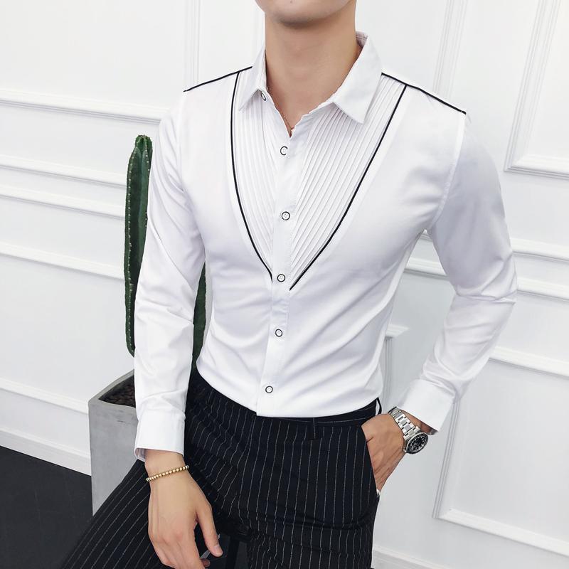 ca9f2088afe8a6 ... 2019 loldeal tuxedo shirt boys white wing collar 1 4 pleat wedding ...