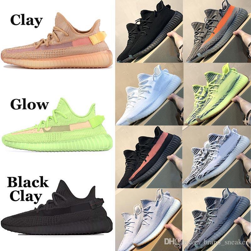 billig adidas Yeezy Boost 350 V2 Kanye West Venom Negro Estático Hombres Mujeres Zapatos Hiperspacio Arcilla Beluga 2.0 Crema de cebra Blanco Criado Tinte  Kostenloser Versand