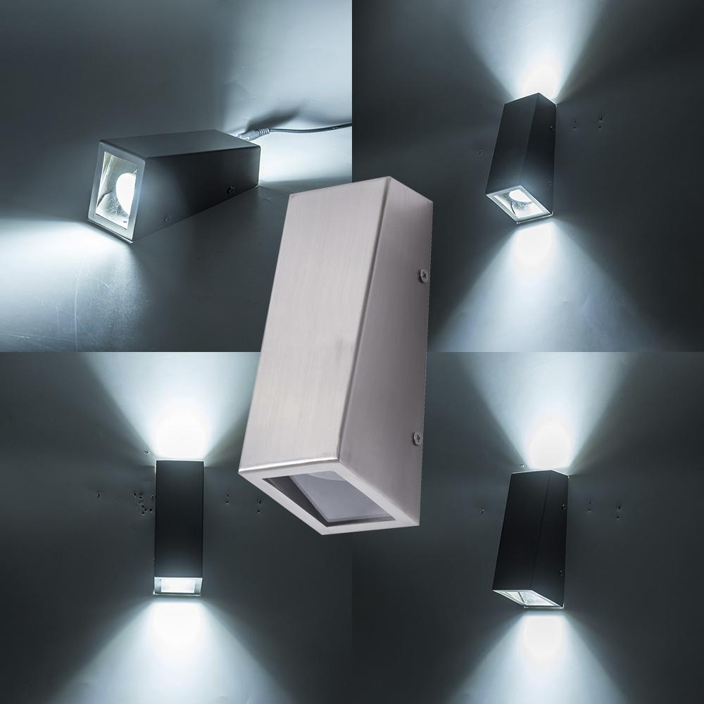 Led Lamps Led Indoor Wall Lamps Ac 220v Waterproof 6w Aluminum Cube Cob Led Wall Lamp Light Modern Home Lighting Indoor Outdoor Decoration Street Price