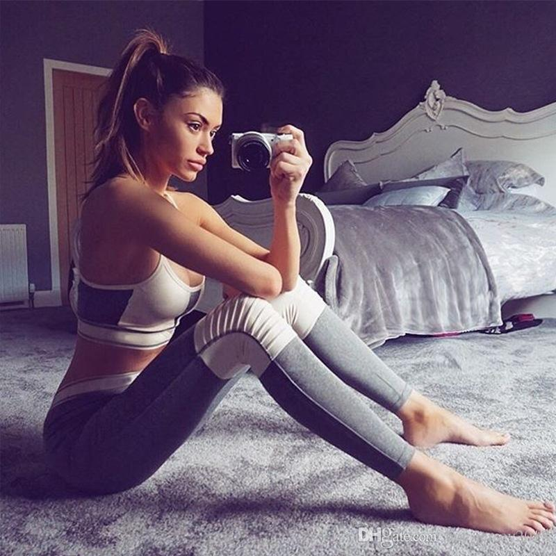 f6661c0d05371 Compre GXQIL 2018 Gym Fitness Suit Mujer Sport Set Dry Fit Mujeres Chándal  Marca Ropa Deportiva Leging Bra Kits Ropa De Yoga Mujer Nueva M   340019 A   41.5 ...