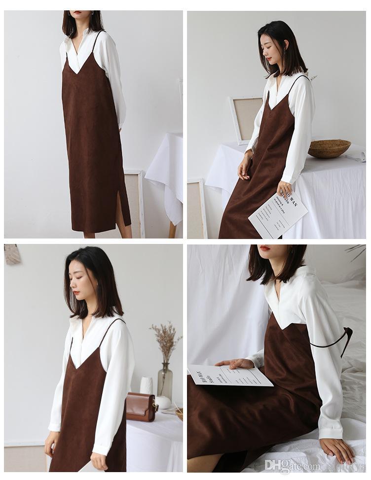 Autumn 2018 Suede Dresses With Suspenders Children Of New Women S
