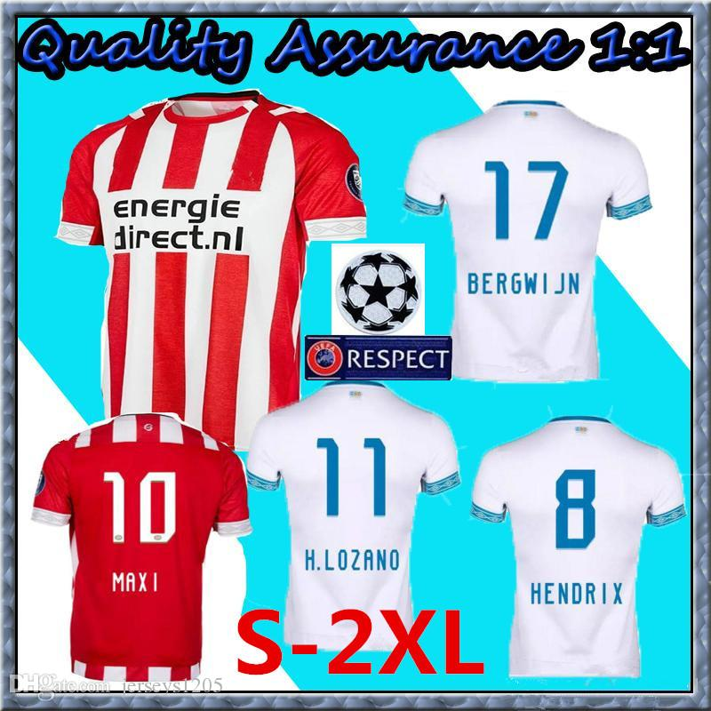 88070b2501a PSV Eindhoven Soccer Jersey Tshirt 2018 19 DE JONG Home Away ...