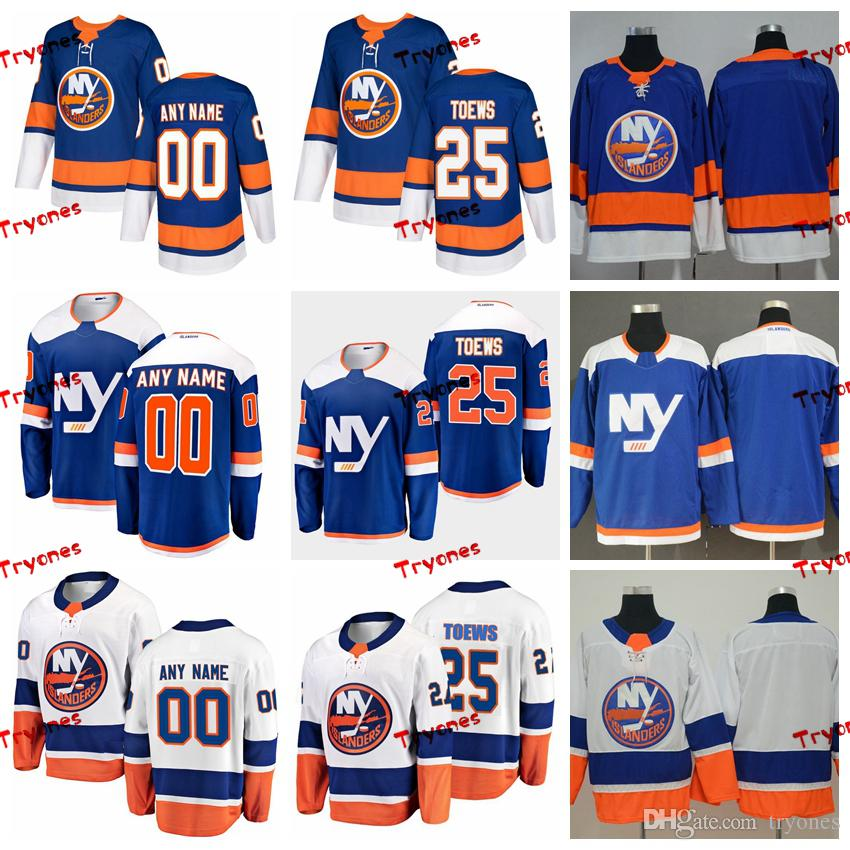 huge discount 3ed45 b5e17 2019 New York Islanders Devon Toews Stitched Jerseys Customize Alternate NY  Blue Shirts 25 Devon Toews Hockey Jerseys S-XXXL