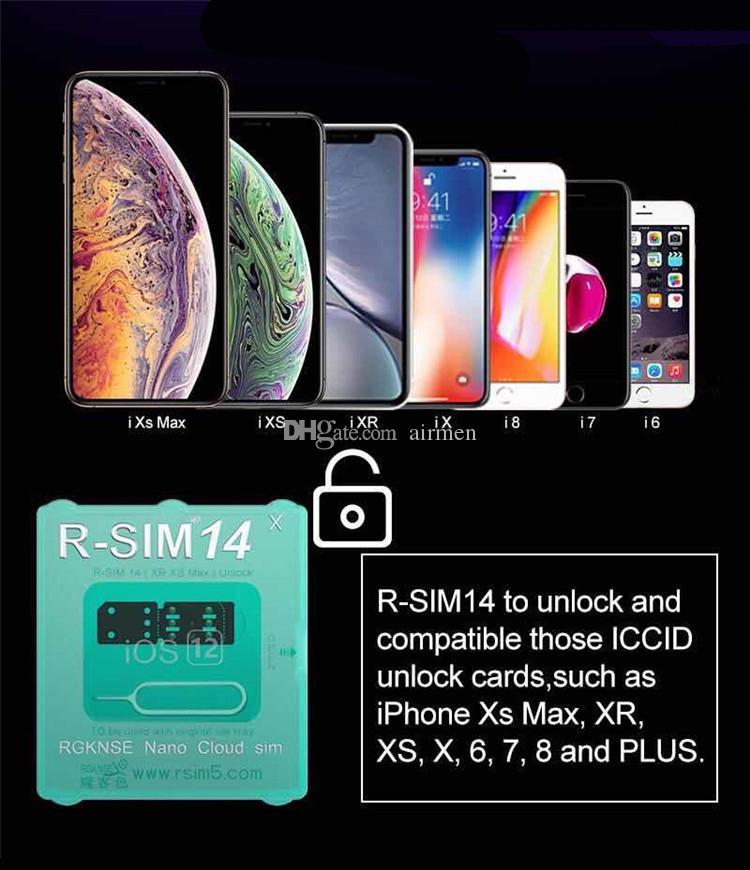 New Hot RSIM 14 a mais recente versão RSIM Cartão de Desbloqueio para Todos Os iPhone IOS 12 AUTO-Desbloqueio 4G LTE X XS MAX