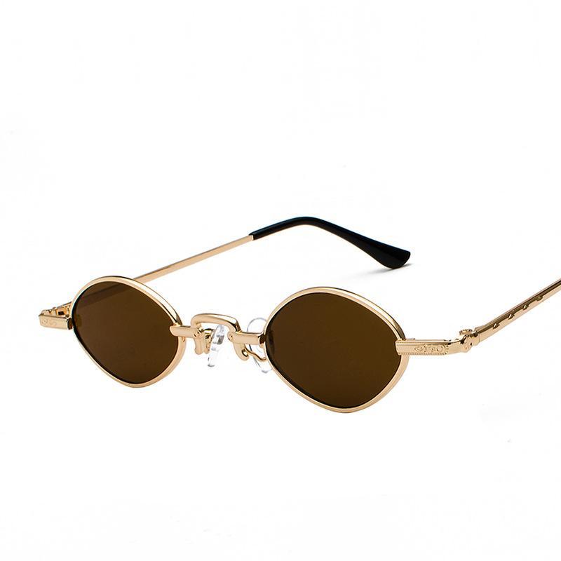 8a7d1729d Compre Minúsculo Designer Chique Oval Óculos De Sol Para As Mulheres Armação  De Metal Moda Mulher Óculos Clássico Rua Eyewear Oculos De Sol De  Jyy1201992, ...