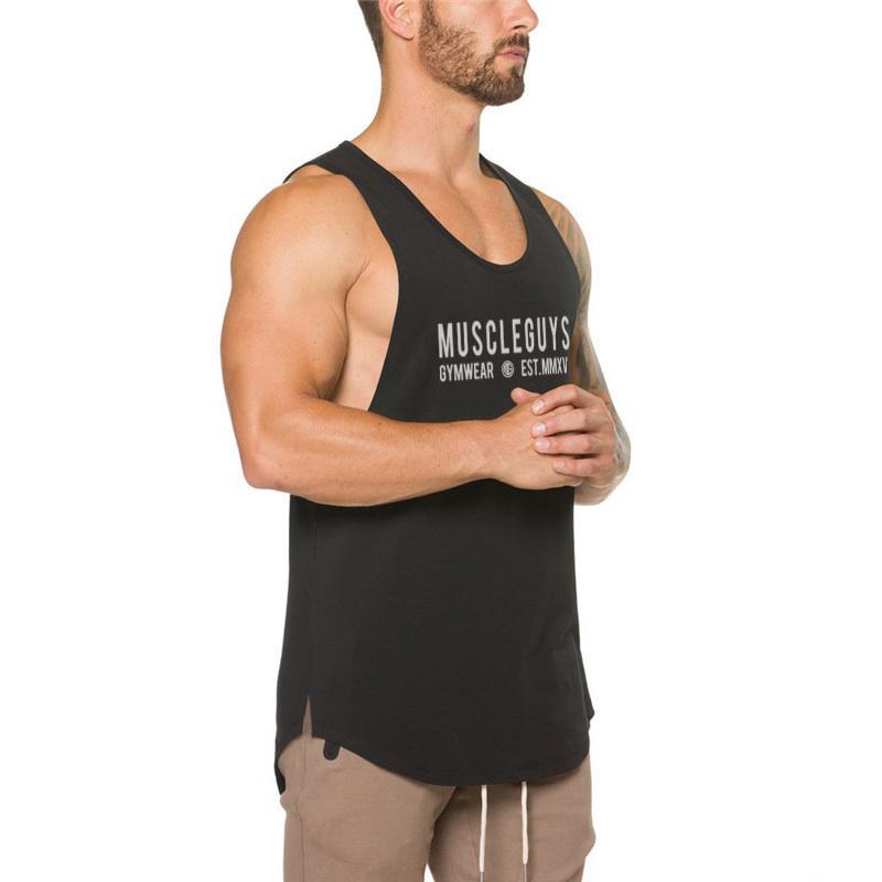 d81fa3fd98b99 Muscleguys Brand Bodybuilding Clothing Fitness Tank Top Men Workout Singlet  Sleeveless Shirt Muscle Vest Gyms Undershirt Offensive T Shirts Sports T  Shirts ...