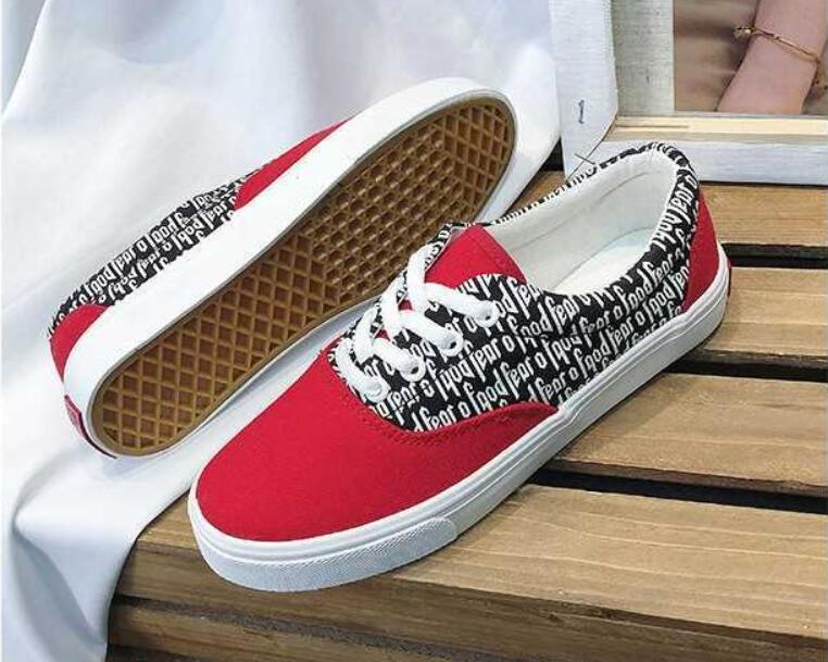 d9419de01a807 2018 New Fear Of God X PacSun Era 97 Reissue Canvas Shoes Men Women Running  Casual Shoes Red White Sport Sneaker 35 44 Scholl Shoes Leopard Print Shoes  From ...