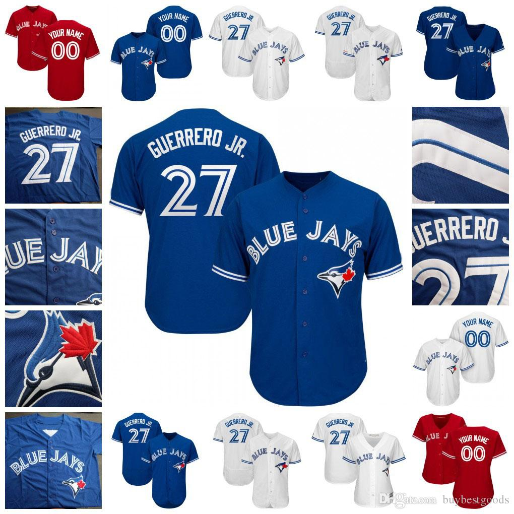 5e9c0b61 2019 27 Vladimir Vlad Guerrero Jr. Jr Blue Jays Jersey Toronto Lourdes  Gurriel Jr Pillar Smoak Grichuk Carter Halladay Hernandez Men Women Youth  From ...