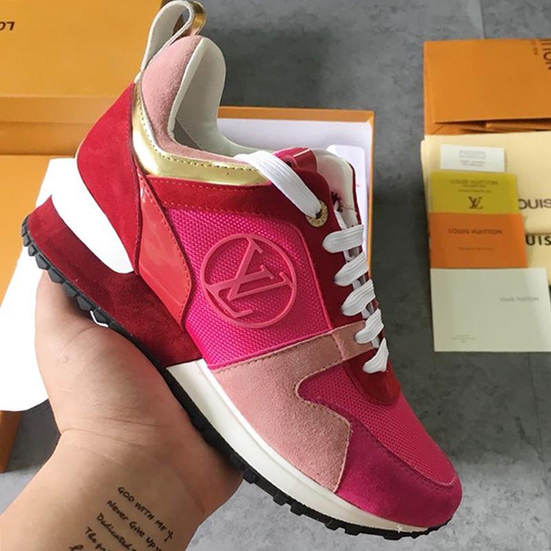 6f173b9ec7b Compre Nuevos Zapatos De Mujer Zapatillas De Deporte Run Away En Colores  Mezclados Gamuza De Piel De Becerro Metal Zapatos Deportivos Mujer Botas  Planas M ...