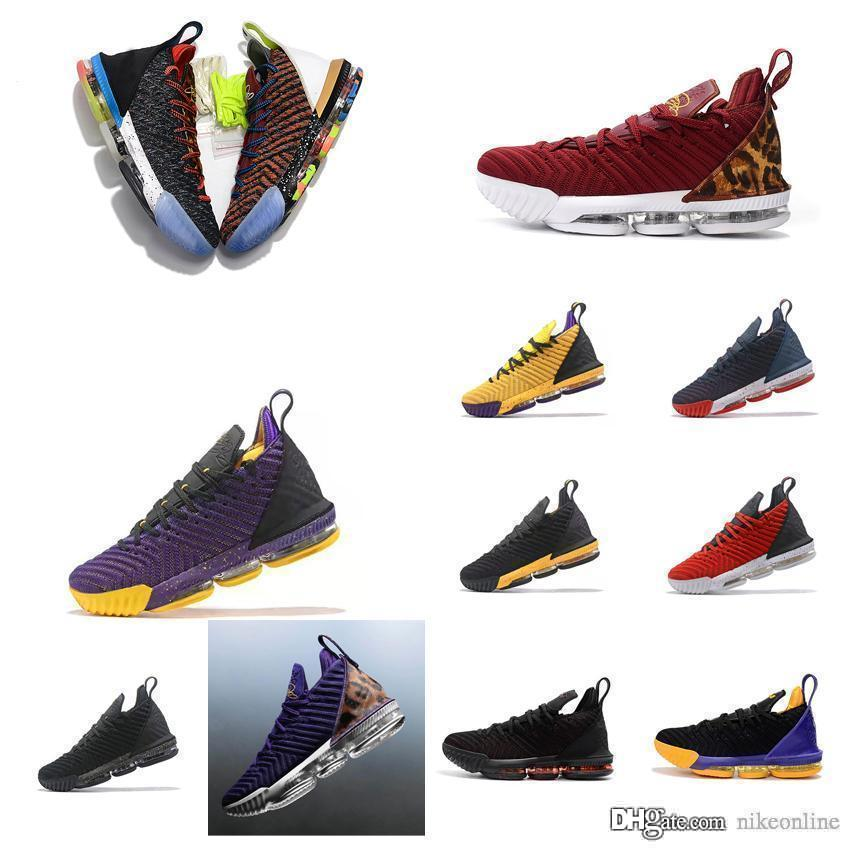 huge discount 5b738 8221f Mens lebron 16 basketball shoes MVP Fresh Bred King Leopard Promise Boys  Girls Kids Women sneakers with box size 5-12