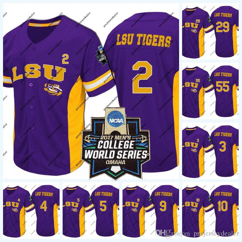 huge discount e3bd8 7e966 Custom LSU Tigers 2017 World Series Baseball Jersey For Mens Womens Youth  NCAA College Baseball Jersey Double Stitched Name and Number
