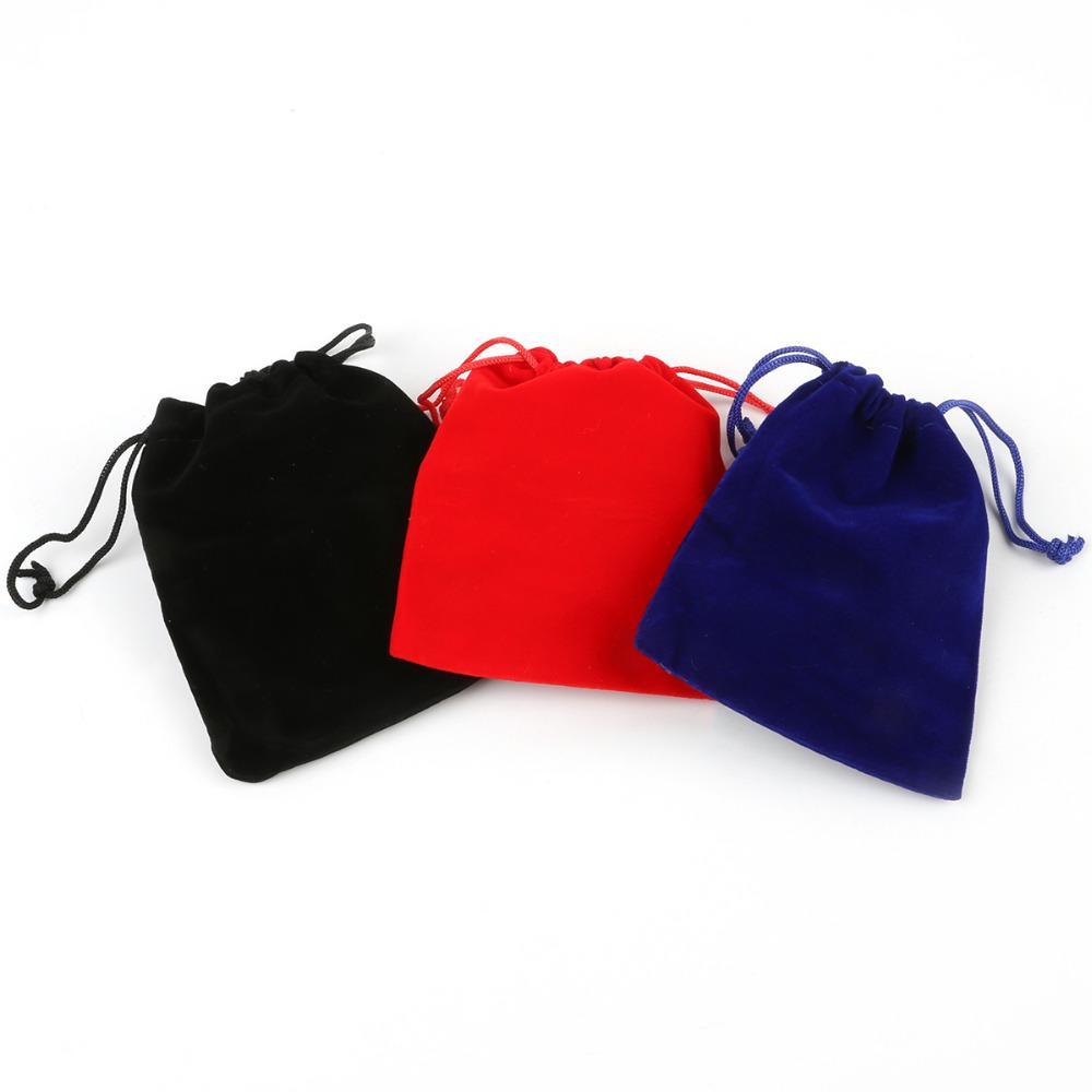 Red/Black/Dark Blue Colors Size 10*12cm /bag Velvet Drawstring Pouch Bag/Jewelry Bag Christmas/Wedding Gift Bag