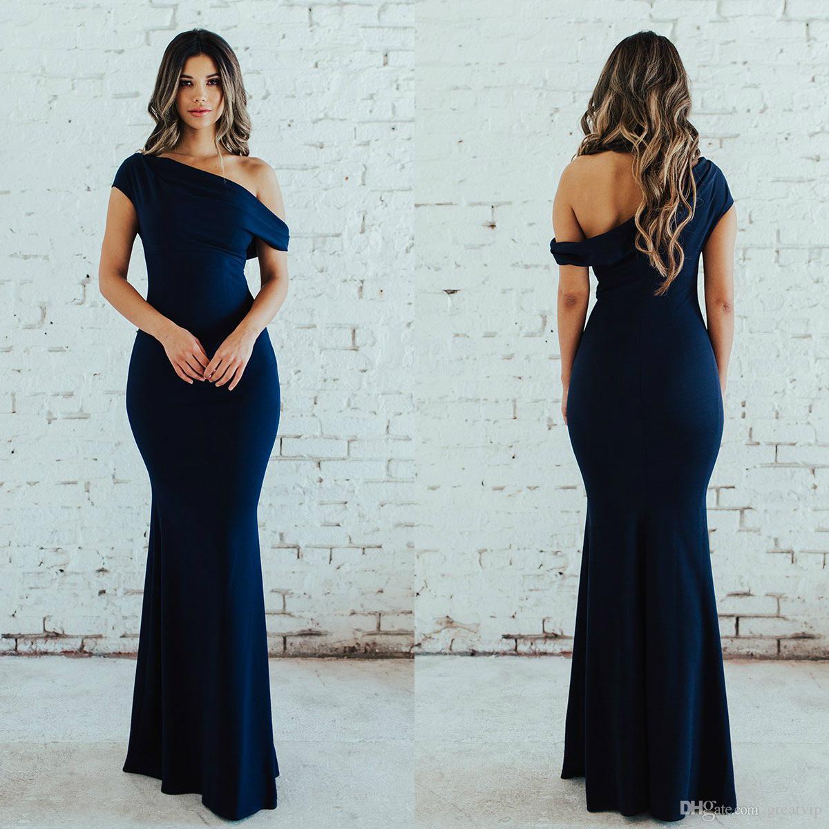 Plus Size Navy Blue Bridesmaid Dress