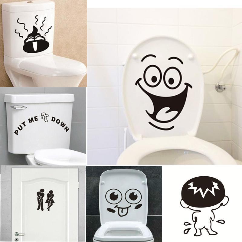 Lustige Lächeln Badezimmer Wandaufkleber Wc Dekoration Wasserdichte  Wandtattoos Für Wc Aufkleber Dekorative Poster Wohnkultur D19011702