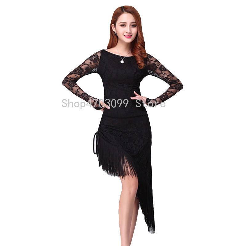 info for 329ba 69fa1 2019 nuovi modelli vestito da ballo latino nappa elegante donne sexy tango  sala da ballo salsa stage danza costumi patchwork di pizzo discoteca