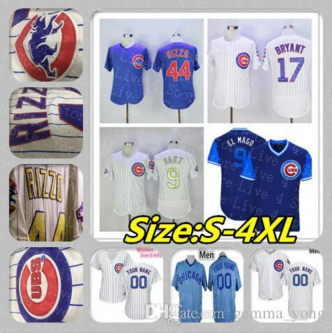 low priced 41610 884f2 Cubs Jersey Javier Baez Chicago Baseball Kris Bryant Anthony Rizzo Kyle  Schwarber Willson Contreras DARVISH Bote Lester Sosa Men Women Kids